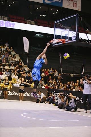 #4 Guevarra Rey Francis, Team Manila West, dunk contest, FIBA 3x3 World Tour Final Tokyo 2014, 11-12 October.