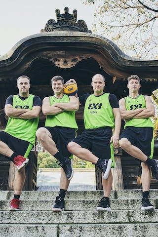 4 Simon Finzgar (SLO) - 7 Adin Kavgic (SLO) - 6 Gašper Ovnik (SLO) - 5 Anže Srebovt (SLO)