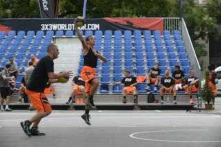 Warming up of the players, FIBA 3x3 World Tour Lausanne 2014, 29-30 August.