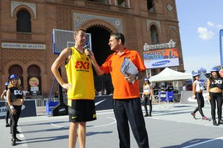 Day 2 of the 2012 FIBA 3x3 World Tour Madrid Masters. 08 September 2012.