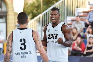 6 Leandro Souza De Lima (BRA) - 3 Ismar Do Vale Neto (BRA) - São Paulo DC v Amsterdam, 2016 WT Debrecen, Pool, 7 September 2016