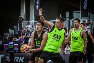 7 Kai Bu (CHN) - 5 Wu Wen (CHN) - 4 Changlin Guo (CHN) - Zheng Zhou v Shanghai SUES, 2016 WT Beijing, Pool, 16 September 2016
