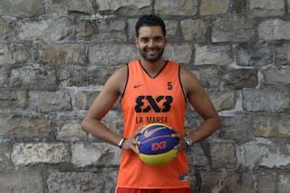 #5 Khalil Maktouf Ghribi, Team La Marsa, FIBA 3x3 World Tour Lausanne 2014, 29-30 August.
