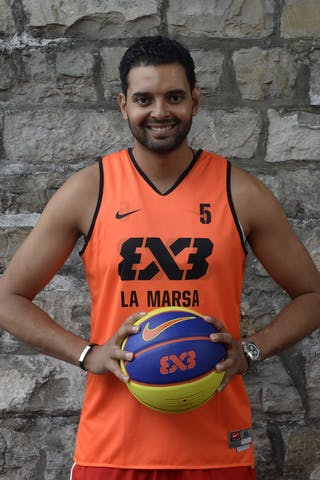 #5 Khalil Maktouf Ghribi, Team La Marsa, FIBA 3x3 World Tour Lausanne 2014, 29-30 August.