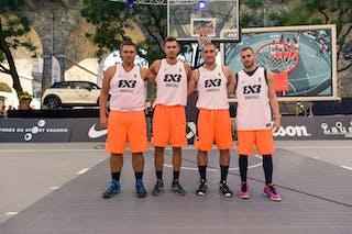 Team Domzale; Mirza SARAJLIJA (Slovenia); Zeljko PALAVRA (Croatia); Luka SNOJ (Slovenia); Nik GREGORČIČ (Slovenia), 2015 WT Lausanne, Pool, 28 August 2015