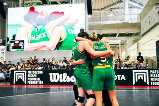 8 Alice Kunek (AUS) - 7 Keely Froling (AUS) - 5 Maddie Garrick (AUS) - 4 Bec Cole (AUS) - Game5_Final_Netherlands vs Australia