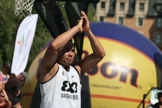 4 Michael Linklater (CAN) - Saskatoon vs Gurabo in the FIBA 3x3 World Tour Saskatoon 2017 semi finals