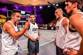 6 Nemanja Draskovic (SRB) - 5 Nikola Vukovic (SRB) - 4 Lazar Rasic (SRB) - 3 Bogdan Dragovic (SRB) - Zemun v Lausanne, 2016 WT Lausanne, Pool, 26 August 2016