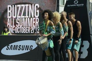 Street dancers 2013 FIBA 3x3 World Tour Masters in Prague