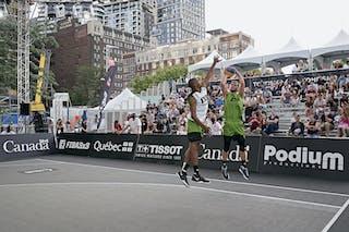 FIBA 3x3, World Tour 2021, Mtl, Can, Esplanade de la Place des Arts. MEN Raudondvaris vs. Winnipeg