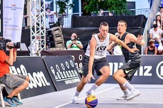 5 Eren Dekan Bayraktar (TUR) - 6 Stefan Kojic (SRB) - Liman v Manisa, 2016 WT Lausanne, Pool, 26 August 2016