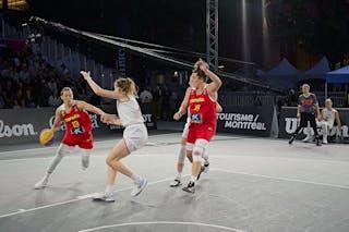 13 Sandra Ygueravide (ESP) - FIBA 3x3, World Tour 2021, Mtl, Can, Esplanade de la Place des Arts. Women final Spain vs Austria