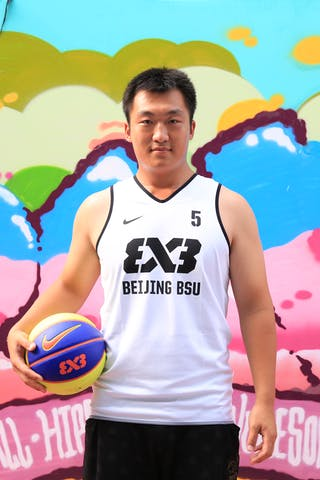 #5 Chao Zhou, Team Beijing BSU, FIBA 3x3 World Tour Beijing 2014, 2-3 August.