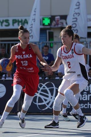 2 Katherine Plouffe (CAN) - 13 Klaudia Sosnowska (POL)