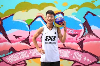 #3 Rui Gu, Team Beijing BSU, FIBA 3x3 World Tour Beijing 2014, 2-3 August.