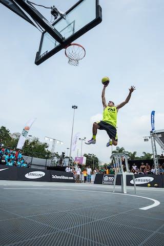 Rodolfo di Biase, Team Concordia, dunk contest, FIBA 3x3 World Tour Rio de Janeiro 2014, Day 2, 28. September.