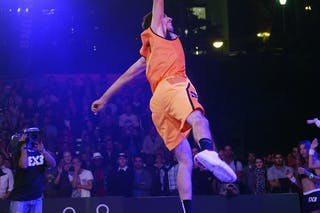 Dunk contest, player's dunk, FIBA 3x3 World Tour Lausanne 2014, Day 1, 29. August.