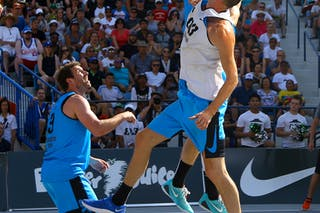 7 Blaz Cresnar (SLO) - 3 Steve Sir (CAN) - Ljublijana vs Saskatoon in the FIBA 3x3 World Tour Saskatoon 2017 final