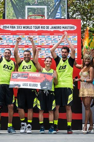 Team Sao Paulo, winner, FIBA 3x3 World Tour Rio de Janeiro 2014, Day 2, 28. September.