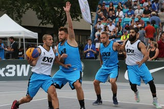 5 Ondřej Dygrýn (CZE) - 3 Ondřej šiška (CZE) - 6 Bikramjit Gill (JPN) - 3 Inderbir Singh Gill (JPN) - Hamamatsu vs Humpalec at FIBA 3x3 Saskatoon 2017