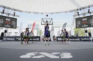 FIBA 3x3, World Tour 2021, Montréal, Canada, Esplanade de la Place des Arts. MEN Antwerp vs. Manila