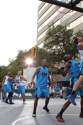 4 Chris Hooper (USA) - 3 David Seagers (USA) - 7 Mihailo Vasic (SRB) - Liman vs NY Harlem at FIBA 3x3 Saskatoon 2017