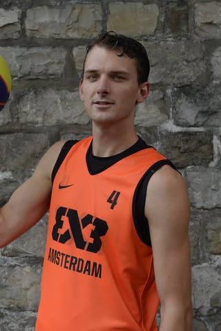 #4 Van Vilsteren Sjoerd, Team Amsterdam, FIBA 3x3 World Tour Lausanne 2014, 29-30 August.