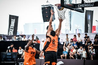 3 Peidong Chen (CHN) - 6 Dwayne Lathan (CHN)