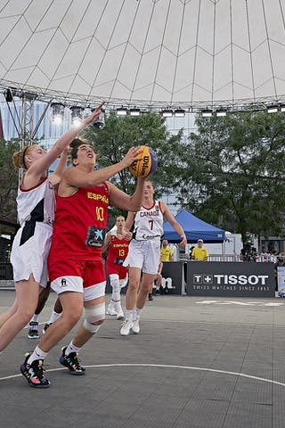 FIBA 3x3, World Tour 2021, Mtl, Can, Esplanade Place des Arts. WS Semi-Final 2- CANADA vs. Spain