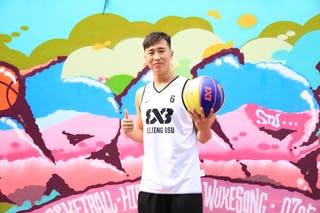 #6 Yinan Zhang, Team Beijing BSU, FIBA 3x3 World Tour Beijing 2014, 2-3 August.