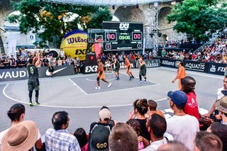 4 Jaka Hladnik (SLO) - 3 Boris Jersin (SLO) - 6 Nolan Brudehl (CAN) - 4 Willie Murdaugh (CAN) - 3 Michael Linklater (CAN) - 5 Mensud Julević (SLO) - Saskatoon v Kranj, 2016 WT Lausanne, Semi final, 27 August 2016