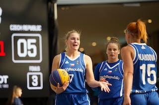 15 Andrea Klaudová (CZE) - 7 Monika Satoranska (CZE) - 3 Alžběta Levínská (CZE)