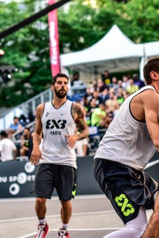 3 Filip Simic (SRB) - 3 Andrea Negri (ITA) - 2 Gionata Zampolli (ITA) - 6 Vladimir Bulatovic (SRB) - Pavia v Obrenovac, 2016 WT Lausanne, Pool, 26 August 2016