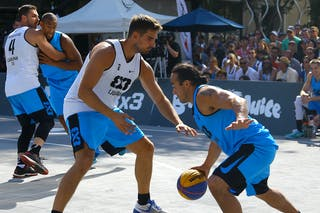 4 Michael Linklater (CAN) - 6 Tomo čajič (SLO) - Ljublijana vs Saskatoon in the FIBA 3x3 World Tour Saskatoon 2017 final