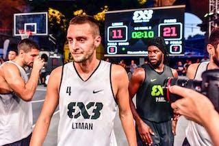 5 Aleksandar Ratkov (SRB) - 4 Marko Brankovic (SRB) - 5 Dominique Gentil (FRA) - Liman v Paris, 2016 WT Lausanne, Semi final, 27 August 2016