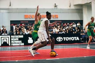 4 Bec Cole (AUS) - 3 Stephanie Mawuli (JPN) - Game1_Pool B_Japan vs Australia