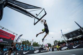Rafal 'Lipek' Lipinski, pro dunker, dunk contest, FIBA 3x3 World Tour Rio de Janeiro 2014, Day 2, 28. September.