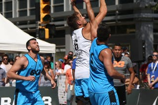 6 Igor Lebov (CAN) - 5 Vadim Halimov (CAN) - 6 Tomo čajič (SLO) - Ljubljana vs Hamilton in the FIBA 3x3 World Tour Saskatoon 2017 semi final