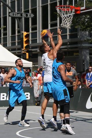 6 Igor Lebov (CAN) - 5 Vadim Halimov (CAN) - 6 Tomo čajič (SLO) - Ljubljana vs Hamilton in the FIBA 3x3 World Tour Saskatoon 2017 semi final