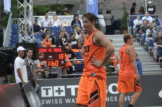 #4 Finzgar Simon, Team Trbovlje, FIBA 3x3 World Tour Lausanne 2014, day 1, 29. August.