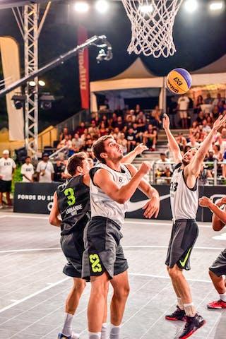 6 Nemanja Draskovic (SRB) - 4 Lazar Rasic (SRB) - 5 Nikola Vukovic (SRB) - 3 Marco Lehmann (SUI) - Zemun v Lausanne, 2016 WT Lausanne, Pool, 26 August 2016