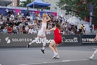 FIBA 3x3, World Tour 2021, MTL, CAN, Esplanade de la Place des Arts. WS QF 2- Poland vs. Austria