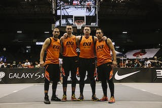 Team Novi Sad, team photo, FIBA 3x3 World Tour Final Tokyo 2014, 11-12 October.