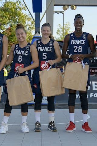 28 Migna Touré (FRA) - 12 Laetitia Guapo (FRA) - 6 Caroline Hériaud (FRA) - 5 Marie-eve Paget (FRA)
