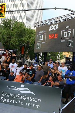 Ljubljana vs Rio de Janeiro at FIBA 3x3 Saskatoon 2017