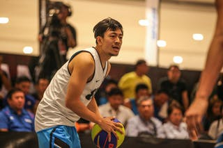 Player in attack, 2014 World Tour Manila, 3x3game, 20. July.
