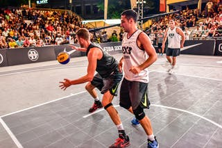 6 Oliver Vogt (SUI) - 5 Nikola Vukovic (SRB) - 3 Bogdan Dragovic (SRB) - Zemun v Lausanne, 2016 WT Lausanne, Pool, 26 August 2016
