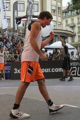 #6 Bassani Andrea, Team Lecco, FIBA 3x3 World Tour Lausanne 2014, Day 1, 29. August.