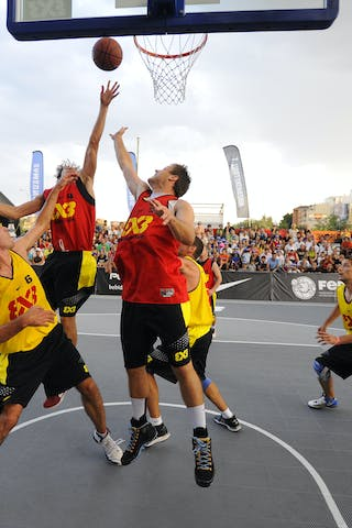 Day 2 of the 2012 FIBA 3x3 World Tour Madrid Masters. 08 September 2012