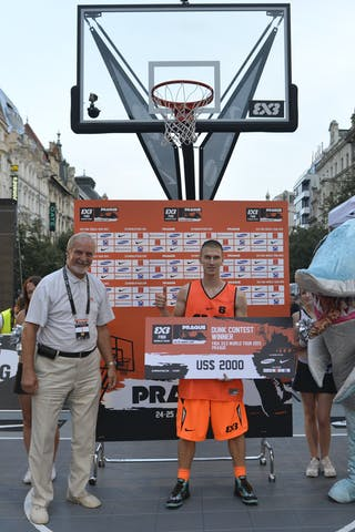 Dunk contest winner with the cheeck and a shark 2013 FIBA 3x3 World Tour Masters in Prague